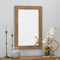 """Morris Wall Mirror - Nutmeg 36 x 24 - Antique Brown - 36""""h x 24""""w x 1""""d"""