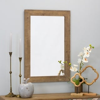 "Morris Wall Mirror - Nutmeg 36 x 24 - Antique Brown - 36""h x 24""w x 1""d"