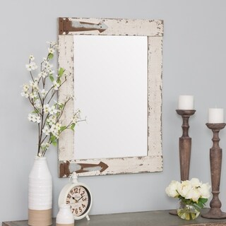 "Serenad Farmhouse Wall Mirror - White - 30""h x 22""w x 1.5""d"