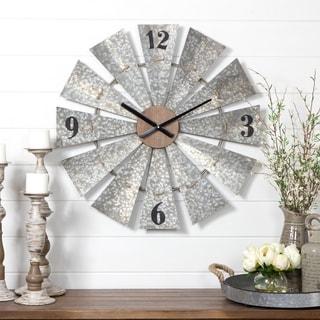 """The Gray Barn Jartop Windmill Wall Clock - 29""""h x 29""""w x 2""""d"""