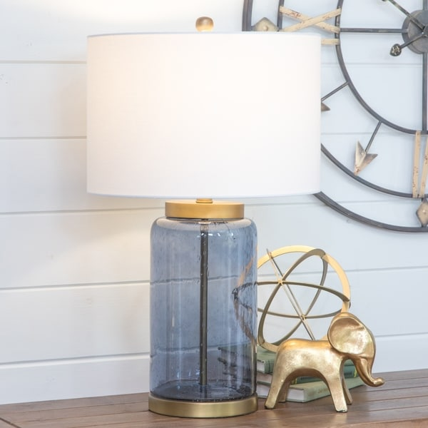 Acton Blue Glass Table Lamp