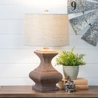 Romilly Chestnut Wood Table Lamp