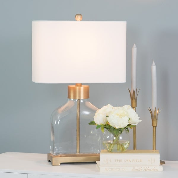 Lorina Glass Table Lamp with Gold