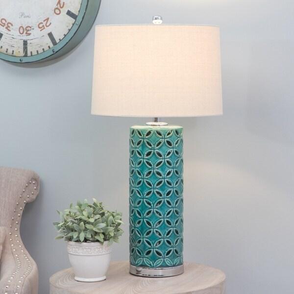 Antoinette Blue-green Ceramic Table Lamp