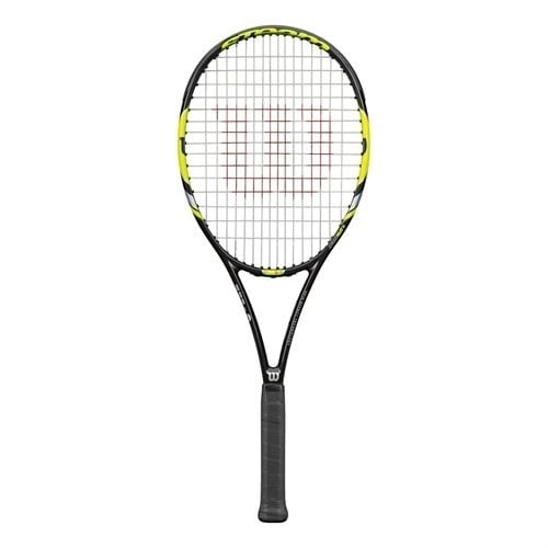 Wilson Steam 99S Yellow Tennis Racquet, Black, Size 4-1/8''