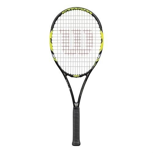 Wilson Steam 99S Yellow Tennis Racquet, Black, Size 4-1/4''