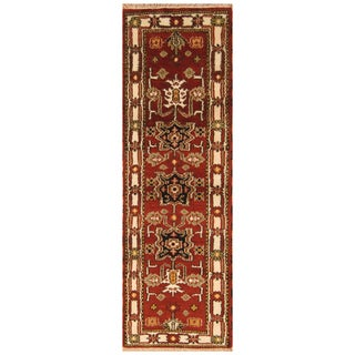Handmade One-of-a-Kind Kazak Wool Runner (India) - 2' x 6'5