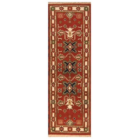 Handmade One-of-a-Kind Kazak Wool Runner (India) - 2'2 x 6'8