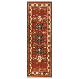 Handmade Kazak Wool Runner (India) - 2'2 x 6'8