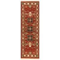 Handmade Herat Oriental Indo Hand-Knotted Tribal Kazak Wool Runner (2'2 x 6'8) - 2'2 x 6'8 (India)