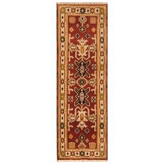 Handmade Kazak Wool Runner (India) - 2'2 x 6'6