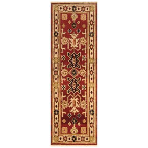 Handmade One-of-a-Kind Kazak Wool Runner (India) - 2'2 x 6'6