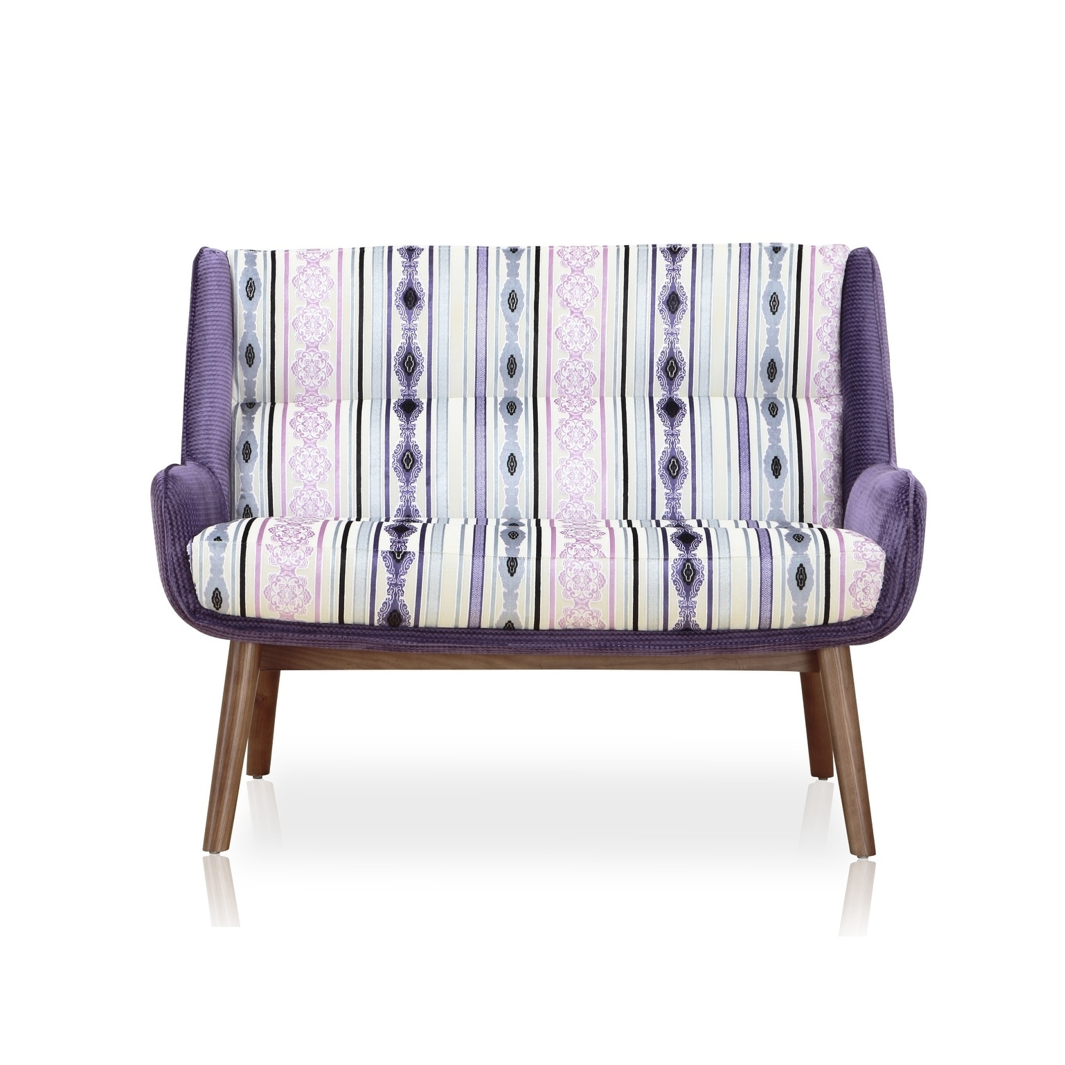 Ceets Fabritze Mid Century Upholstered Loveseat (Purple/M...