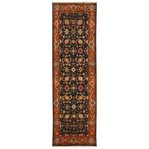 Handmade Serapi Wool Runner (India) - 2'6 x 7'10