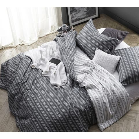 BYB Faded Stripes - Black Comforter