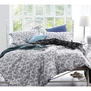 BYB Moxie Vines White and Black Comforter. Opens flyout.