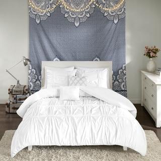 Intelligent Design Quinn White 5-piece Duvet Cover Set