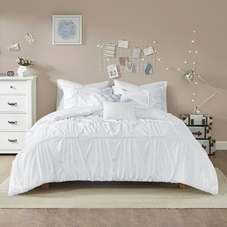 Intelligent Design Quinn White 5 Piece Duvet Cover Set (2 Options Available)