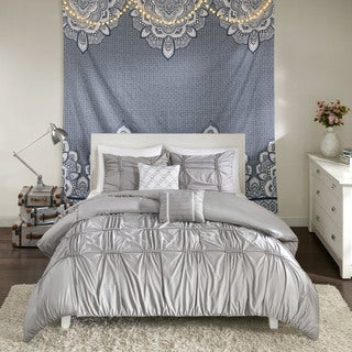 Intelligent Design Quinn Grey 5-piece Duvet Cover Set