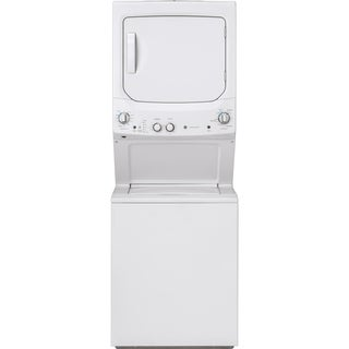 GE Unitized Spacemaker 3.8 DOE cu. ft. Stainless Steel Washer and 5.9 cu. ft. Gas Dryer