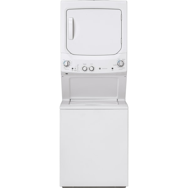 GE Unitized Spacemaker 3.8 DOE cu. ft. Stainless Steel Washer and 5.9 cu. ft. Long Vent Electric Dryer