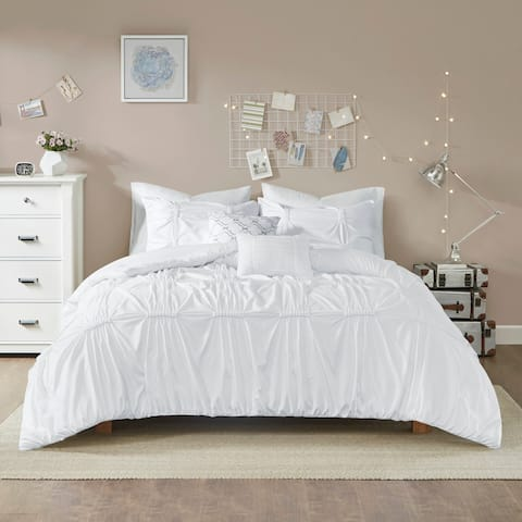 Intelligent Design Quinn White 5-piece Comforter Set
