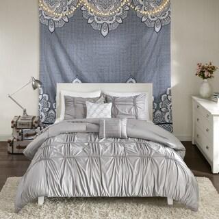 Intelligent Design Quinn Grey 5-piece Comforter Set