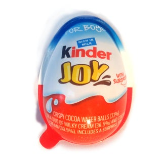 Chocolate Kinder Joy Eggs with Surprise Inside - 6ct