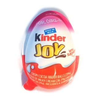 Chocolate Kinder Joy Eggs with Surprise Inside - Girls - 36ct