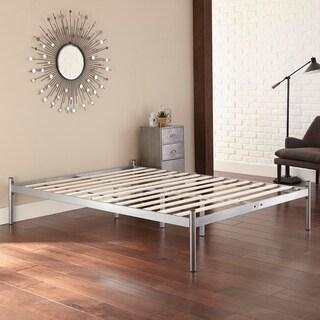 Sleep Sync Rhett Silver Queen Metal Platform Bed