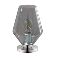 Eglo USA Murmillo Table Lamp w/ matte nickel finish and smoked glass