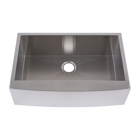 """Yosemite Home Decor 19"""" x 32"""" Stainless Steel Undermount Right-Angled Single Sink - 19 x 32 x 10"""