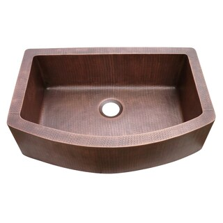 Copper Farmhouse Curved Apron Sink