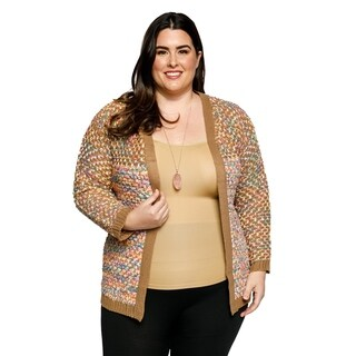 Xehar Womens Plus Size Casual Knit Long Sleeve Open Front Cardigan Sweater