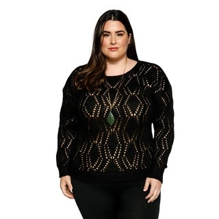 Xehar Womens Plus Size Casual Crewneck Long Sleeve Knit Pullover Sweater