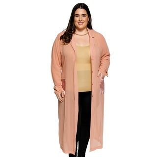 Xehar Womens Plus Size Fashion Chiffon Duster Long Kimono Cardigan