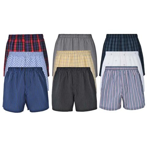 Reed Edward Classic Assorted ComfortFlex Waistband Underwear Boxer Shorts - 9 Pack