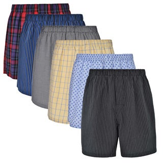 Reed Edward Classic Assorted ComfortFlex Waistband Underwear Boxer Shorts - 6 Pack