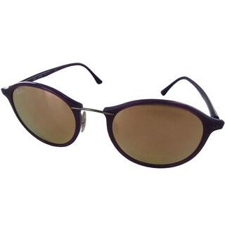 Ray-Ban Round Fashion RB4242 Womens Purple Frame Copper Lens Sunglasses