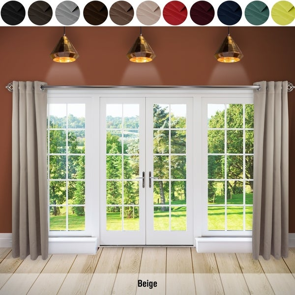 Attractive InStyleDesign Premium Extra Wide Heavy Duty Sliding Door Patio Curtain With  Grommet (1 Panel)