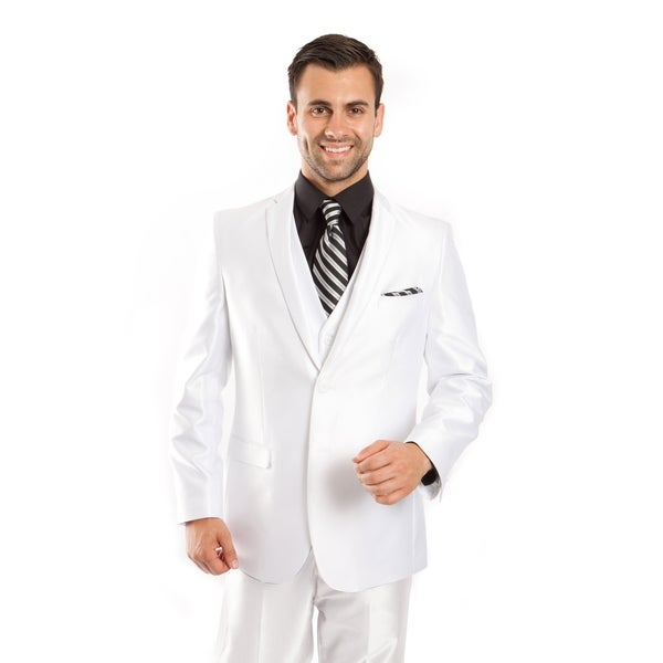 Mens Suit Set 3 Piece Casual Slim Fit Notch Lapel Suit Set
