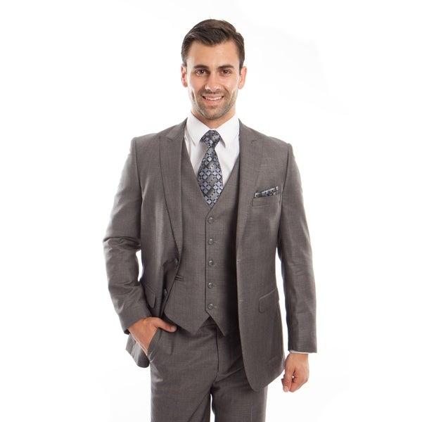 Mens Suit Set Peak Lapel Casual Slim Fit Formal Suit Set