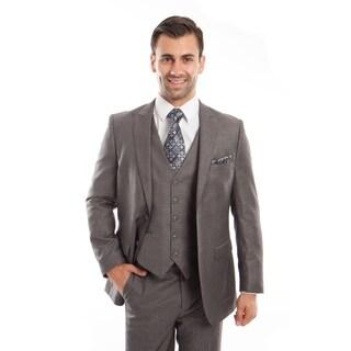 Men's Suit Set Peak Lapel Casual Slim Fit Formal Suit Set
