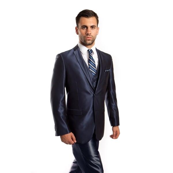 Mens Suit Set 3 Piece Casual Slim Fit Notch Lapel Suit Set