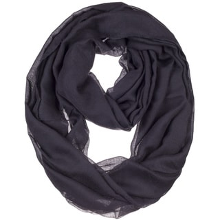 Link to BYOS Womens Airy Crinkled Lightweight Soft Infinity Scarf Loop Snood in Solid Color Similar Items in Scarves & Wraps