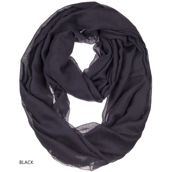 ddbdf473c52b7 BYOS Womens Airy Crinkled Lightweight Soft Infinity Scarf Loop Snood in  Solid Color