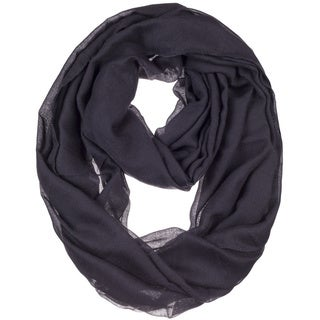 BYOS Womens Airy Crinkled Lightweight Soft Infinity Scarf Loop Snood in Solid Color (3 options available)