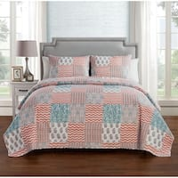 VCNY Home Anna Pinsonic 3-piece Reversible Quilt Set