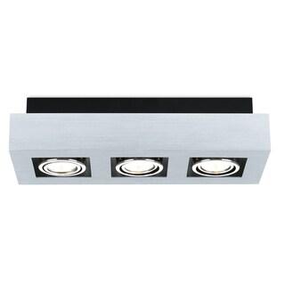 Eglo Loke Track Light with Brushed Aluminum, Black and Chrome Finish