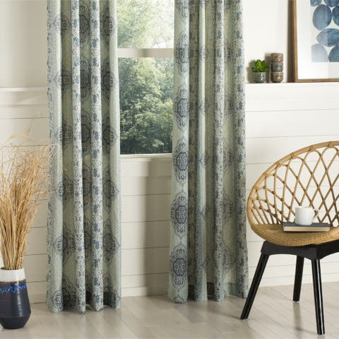 "SAFAVIEH Florina 96 Inch Curtain Panel - 96"" L x 52"" W"